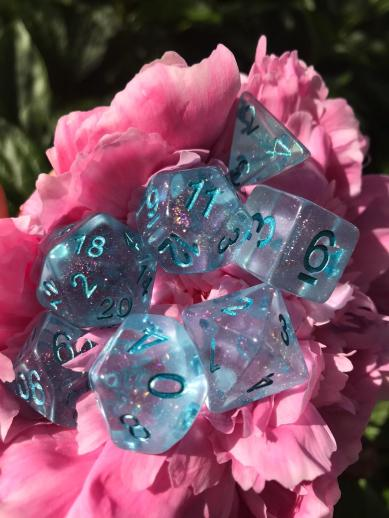 HD Dice Iridescent Blue Re-Ink